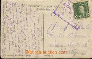33905 - 1913 pohlednice vyfr. zn. 5h Mi.67 s otiskem rámečkového raz