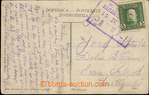 33905 - 1913 postcard with 5h Mi.67 with print frame postmark Postal