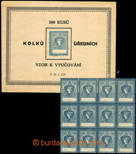 33975 - 1900? school revenues, envelope with additional-printing 100