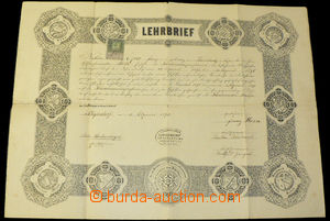 33977 - 1895 VOCATIONAL CERTIFICATE  for shoemaker, stamped stmp 50