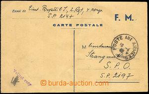 34042 - 1940 lístek polní pošty F.M. zaslaný příslušníkem č