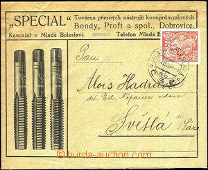 34086 - 1923 Bondy, Proft & Co., Dobrovice - kovoprůmyslové instru