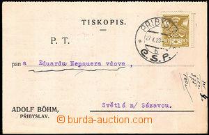 34093 - 1923 Adolf Böhm, Přibyslav - továrna na likéry a ocet, r