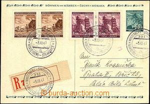 34100 - 1941 R  dopisnice CDV4 s dofr. zn. 3K (správná sazba) a 4