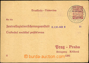 34107 - 1940 CUP1/II. response part with thin/light postal agency pm