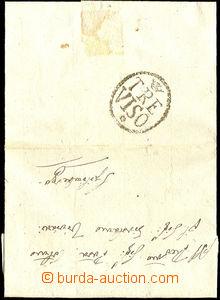 34155 - 1786 skládaný dopis s černým razítkem na zadní straně TREVIS