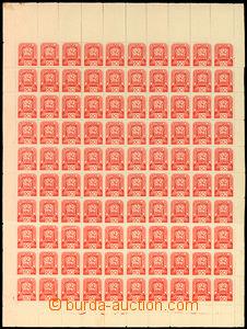 34168 - 1945 Mi.84,  kompl. 100-zn. arch s okraji a DČ1, mírný posun
