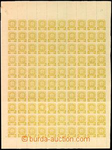 34169 - 1945 Mi.81, kompl. 100-zn. arch s okraji a DČ1, VV nepravid