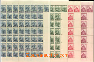34170 - 1939 Pof.32-35, complete sheets with margins and coupons, al