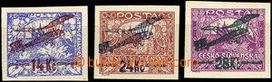 34178 - 1920 I.emise  Pof.L1-3, zk. Hirsch, Tribuna, stopy po nálep
