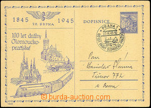 34180 - 1945 100 let olomoucko - pražské dráhy, kat. Troj.1945/3,