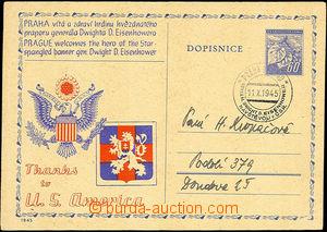 34182 - 1945 Návštěva gen. D.D.Eisenhowera v Praze, kat. Troj.194