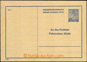 34197 - 1940 CAZ1 Pa, hnědošedý paper, superb, c.v.. 600CZK