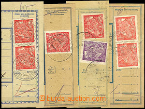34221 - 1921 comp. 4 pcs of cuts with 300h, Pof.166 with plate varie