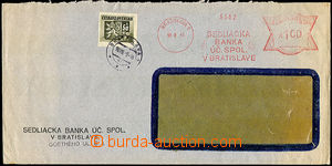 34229 - 1945 commercial window envelope paid/franked combinations me