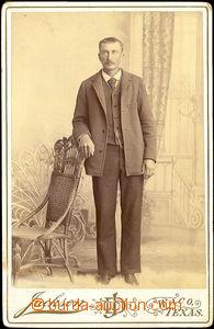 34234 - 1893 kabinetní fotografie atelieru Jackson Waco, Texas USA,