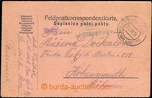 34257 - 1916 lístek FP s raz. Kriegsspital b/ Sternthal b. Pettau/