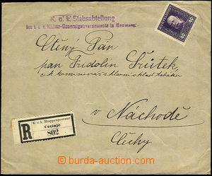 34261 - 1916? R dopis vyfr. zn. FP 40h, Mi.36, nečitelné lehké DR