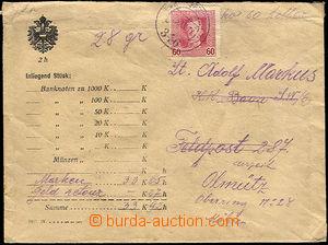 34266 - 1917 cenné psaní ve formulářové obálce (1917. IV.) zas