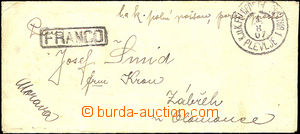 34267 - 1907 manoeuvres in/at Montenegro - letter with content from