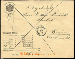 34283 - 1882? money letter for printed matter envelope cash franked/