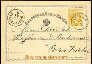 34296 - 1870? yellow 2 Kreuzer, Mi.P1, dark yellow color stamp., CDS
