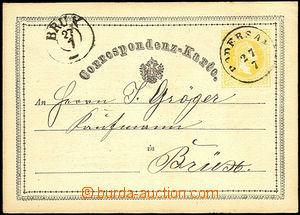 34300 - 1870? yellow 2 Kreuzer, Mi.P1, CDS Podersam27/7 (Podbořany)