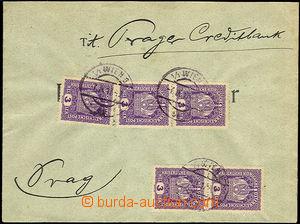 34354 - 1917 dopis vyfr. 5-násobnou frankaturou zn. 3h Koruna, Mi.18