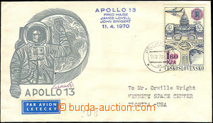 34364 - 1970 KOSMOS  ČSR obálka s přítiskem Apolla 13 zaslaná do USA