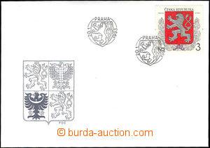 34394 - 1993 FDC 1, Malý státní znak ČR, kat. 140Kč