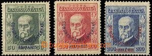 34429 - 1925 Pof.180-2 Kongres, průsvitky P6, P6, P7, stopy po nál