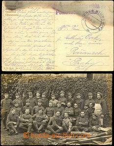 34433 - 1919 fotopohlednice skupiny vojáků z Karvinné (dle textu)
