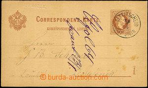 34440 - 1878 forerunner of perfins - embossed printing name/-s sende