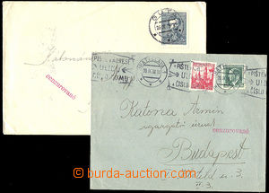 34445 - 1938 CENSORSHIP  comp. 2 pcs of letters  to Hungary with red