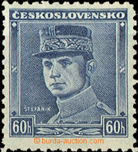 34446 - 1939 Alb.1, blue Štefánik, quite lightly hinged, otherwise m
