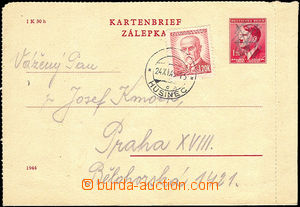 34462 - 1945 Bohemian and Moravian letter-card CZL5 with one margin,