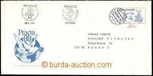 34578 - 1987 CSO5, Exhibition PRAGA ´88, Us, CDS Prague 3/ 18.12.87