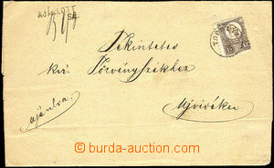 34628 - 1871? folded Reg letter with 15 Kreuzer copper print, Mi.12,