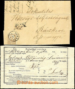 34629 - 1871 1871 - Mi.5b 15Kr on registered folded letter tied with