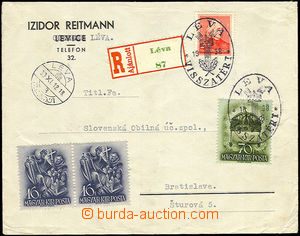 34648 - 1938 commercial Reg letter franked with Hungarian stmps with
