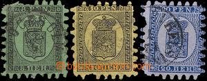 34684 - 1866 Mi.6C, 7C, 8C Coat of arms, comp. 3 pcs of, quality to
