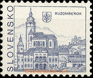 34742 - 1993 Zsf.3VCH, Ružomberok missing print of value cat. 4000S