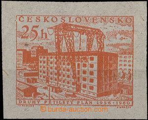 34788 - 1956 PLATE PROOF  Pof.870  stamp. 25h, size 39x31 mm, orange