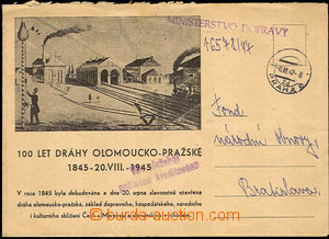 34818 - 1947 envelope with additional-printing 100 years Olomouc Reg