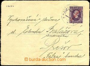 34822 - 1947 CZL4,  typography overprint, Us with railway pmk Bratis