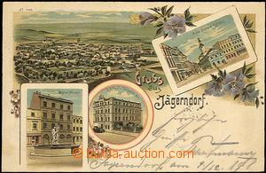 34862 - 1898 KRNOV (Jägerndorf) - Neptunova kašna, C. K. poštovn�