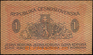 34863 - 1919 Czechoslovakia  1 Koruna issue 1919, set 194, quality 1