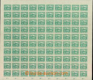 34904 -  Pof.8, 20h modrozelená, kompletní 100-známkový arch s o