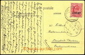 34918 - 1911 LEVANT  pohlednice vyfr. zn. 1p Mi.14, DR Beyruth/ Brit