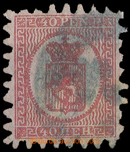 34920 - 1866 Mi.9C Coat of arms, postmark nejasné, R and at top sho